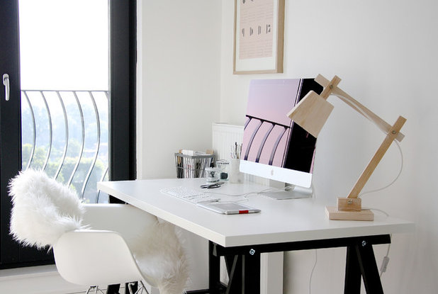 Scandinavian Home Office & Library by Holly Marder