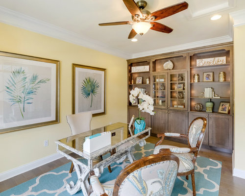 Houzz beach style home office design ideas remodel for Coastal home office