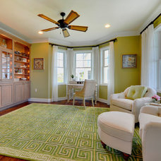 Beach Style Home Office by Schell Brothers