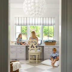 eclectic home office The Ladue House