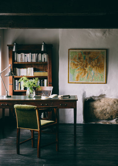 Rustic Home Office by Field Day Studio