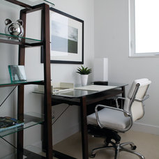 Contemporary Home Office by Allen Saunders, Inc.