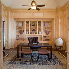 Traditional Home Office by Kickerillo Companies