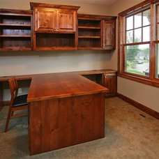 Traditional Home Office by F & B Construction Inc. Co MN Custom Home Builders
