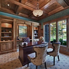 Traditional Home Office by Todd Michael Builder Developer, Inc