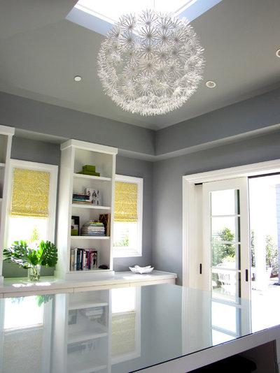 Beach Style Home Office by Tara Bussema