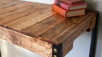 """The Standing Desk"" Rustic Industrial Reclaimed Wood. Customize Your Space"