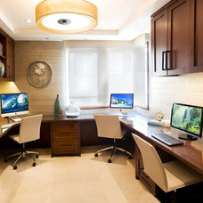 Contemporary Home Office by KKC Fine Homes