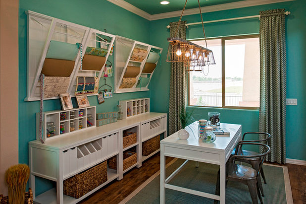 American Traditional Home Office by Meritage Homes
