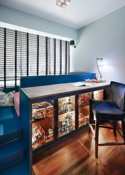 Eclectic Home Office & Library by The Scientist Pte Ltd