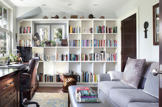 Transitional Home Office by D Maurer Contracting