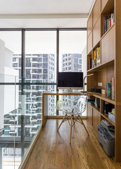 Scandinavian Home Office & Library by Schemacraft Interiors Pte Ltd