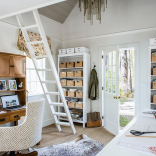 Home Office   Small Transitional Home Office Idea In Boston