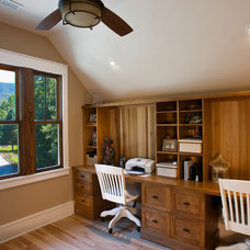 Craftsman Home Office by Brookstone Builders