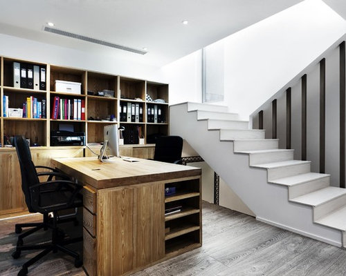 Two Sided Desk Home Design Ideas, Pictures, Remodel and Decor