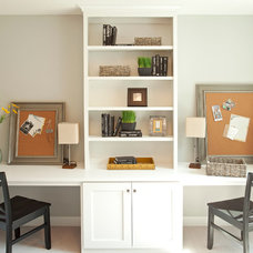 Transitional Home Office by Homes by Tradition