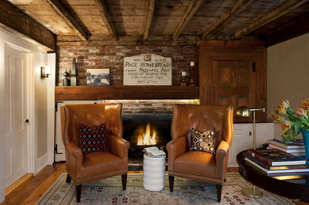 Rustic Home Office by Terrat Elms Interior Design
