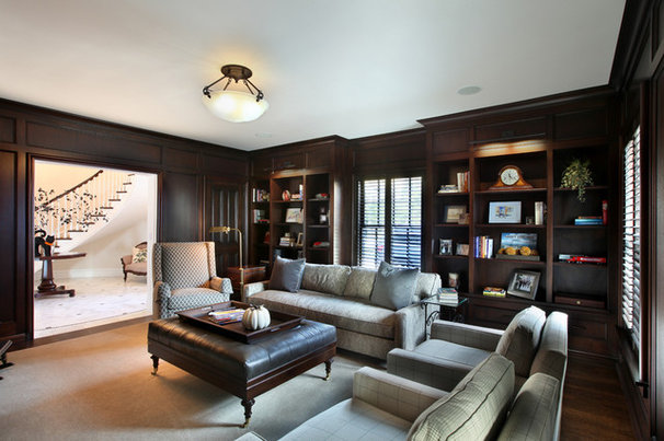 Traditional Home Office by Scott Christopher Homes/Surpass Renovations