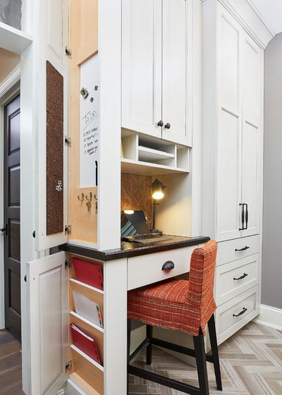 Traditional Home Office by Benchmark Wood Studio