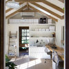 A Backyard Horse Barn Becomes a Home Office and Guest Quarters