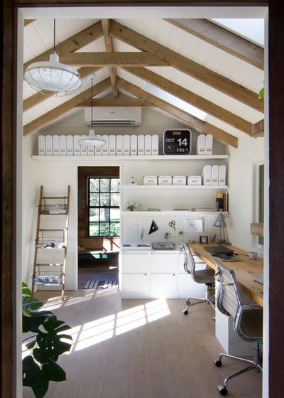 Farmhouse Home Office by Garrison Foundry Architecture + Decor