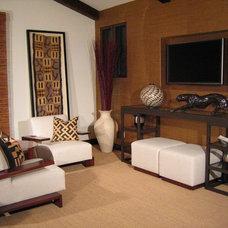Contemporary Home Office by Todd Peddicord Designs