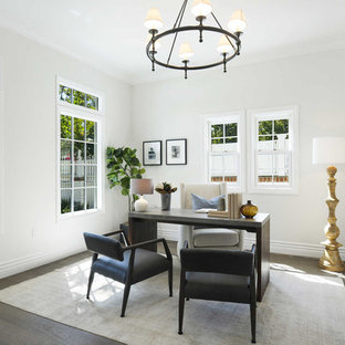 Transitional home office photo in Los Angeles