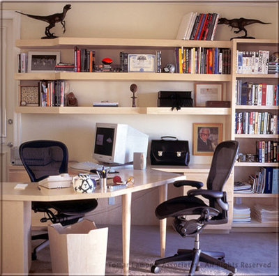 Contemporary Home Office by Tomar Lampert Associates