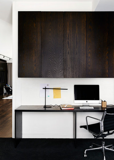 Contemporary Home Office by Melbourne Contemporary Kitchens