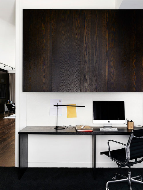 Contemporary Study Room In Melbourne With White Walls, Carpet And A  Freestanding Desk. Part 89