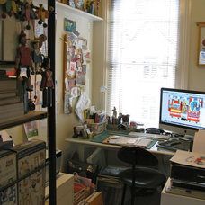 Eclectic Home Office by Tracey English/One Apple Designs