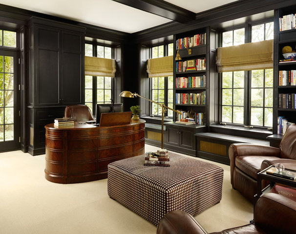 Traditional Home Office by Morgante Wilson Architects