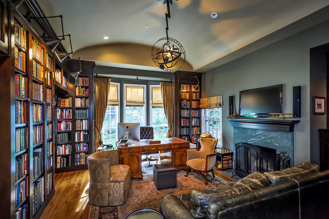 Traditional Home Office by BayWorks Construction, Inc.