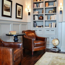 Traditional Home Office by Amy Carman Design