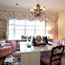 Traditional Home Office by Amanda Austin Interiors