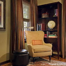 Traditional Home Office by Laura Britt Design