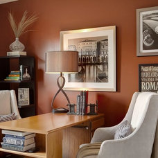 Traditional Home Office by McCroskey Interiors