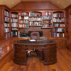 Traditional Home Office by Precision Cabinets