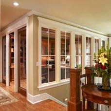 Traditional Home Office by Sharratt Design & Company
