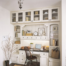 Traditional Home Office by Fieldstone Cabinetry