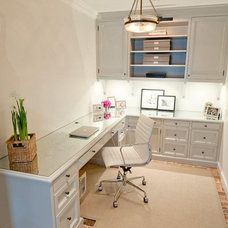Traditional Home Office by Munger Interiors