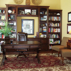 Traditional Home Office by Dorsch Interiors, LLC