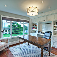 Transitional Home Office by Rockwood Custom Homes