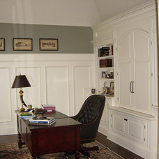 Traditional Home Office by Paquet's Restorations