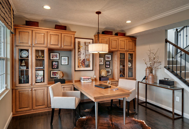 Contemporary Home Office by Mary Cook