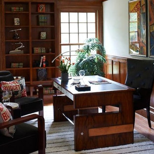 Home office - transitional home office idea in Miami