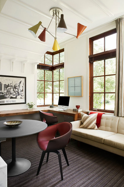Transitional Home Office by Morgante Wilson Architects