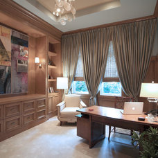 Transitional Home Office by Marc-Michaels Interior Design