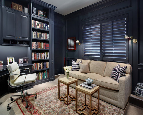 Transitional Home Office Design Ideas Renovations Photos