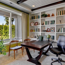 Transitional Home Office by Quadrant Homes